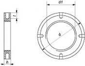 Гайки DIN 1816 круглые с мелкой резьбой