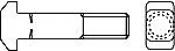 Болты DIN 186 с прямоугольной Т-образной головкой и квадратным подголовком