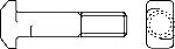 Болты DIN 188 с прямоугольной Т-образной головкой и усиком