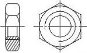 Гайки DIN 439-2 (EN ISO 4035, 8675) шестигранные низкие (с фаской)