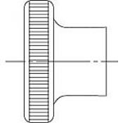 Гайки DIN 466 высокого типа с накатанной головкой