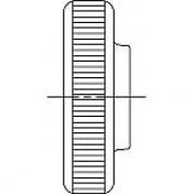 Гайки DIN 467 низкого типа с накаткой