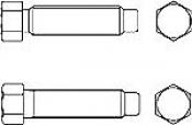 Болты DIN 561 с шестигранной уменьшенной головкой и цапфой