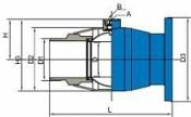 Кран  Naval для врезки в действующую сеть - стальной, полнопроходной